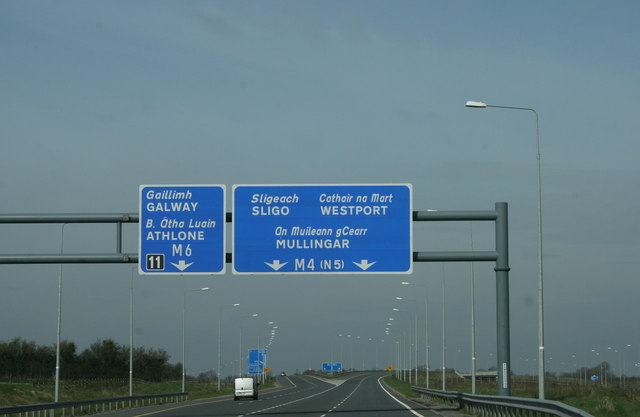 Motorways diverge, County Meath