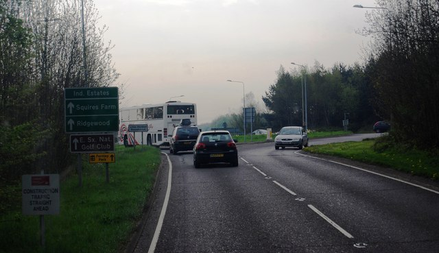 Approaching Little Horsted Roundabout