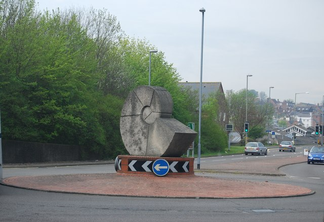 Ammonite Statue at the entrance to the Cuilfail Tunnel