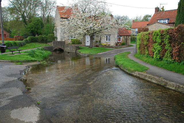 Ford and Footbridge at Water Mill Lane, Nettleham