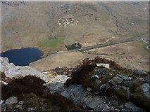 SH6659 : Grassy Ledge on Tryfan North Ridge by Ivan Hall