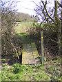 TM3666 : Footbridge between fields by Adrian Cable