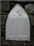 NY3704 : Plaque, History of the former Chapel of St Anne, Ambleside by Alexander P Kapp