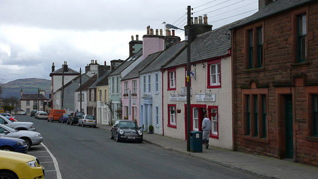 Houses in the market square, Wigtown