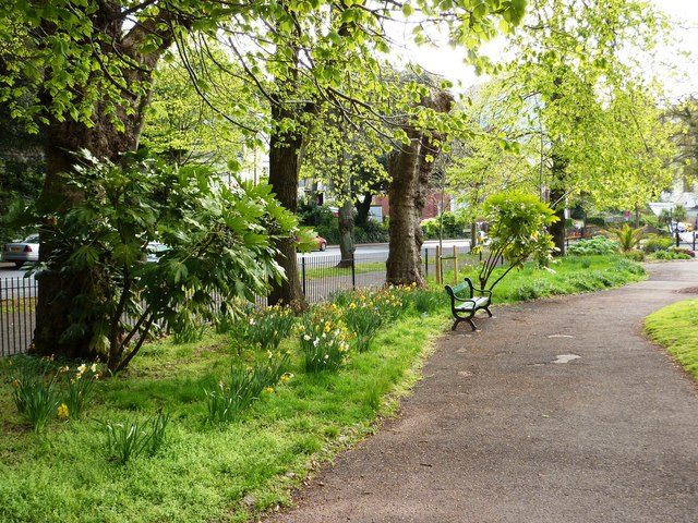 Upton Park footpath and trees