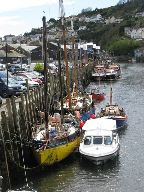 Boats at the quayside in Looe