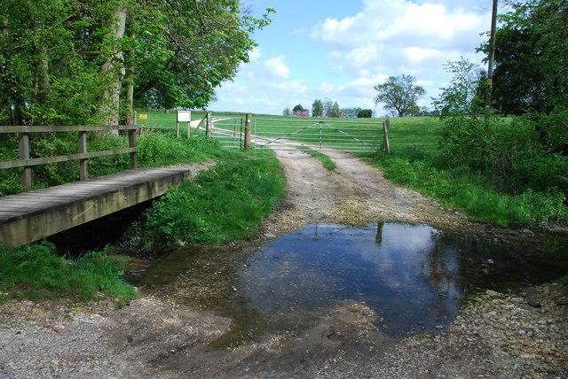 Ford on the Black Dike near Brackenborough Hall