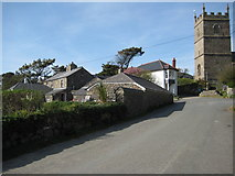 SW4538 : Tinners Arms and church, Zennor by Philip Halling