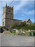 SW4538 : Zennor Church by Philip Halling