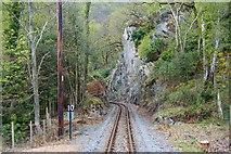 SH5946 : Welsh Highland Railway at Nantmor, Gwynedd by Peter Trimming