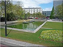 TQ2780 : Ornamental pond at Marble Arch by John Allan