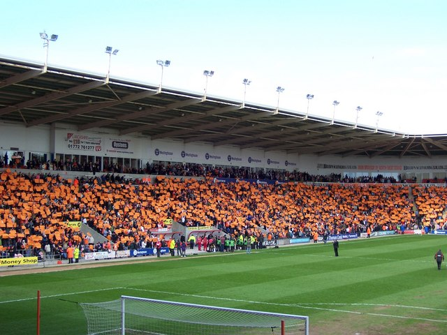 West Stand at Bloomfield Road, Blackpool