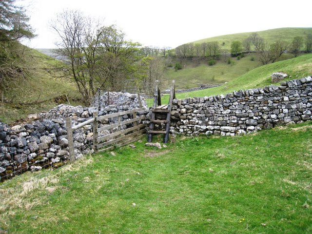 Ladder stile near Kettlewell