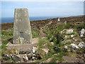 SW4740 : Trig Point, Trevega Cliff by Philip Halling