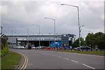 TQ0975 : Hatton Cross bus & underground station from Southern Perimeter road at Heathrow airport by Roger Davies
