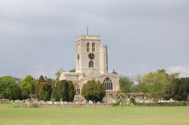 St Mary's church, Thame from the cricket field