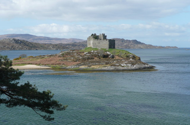Castle Tioram from the Silver Walk
