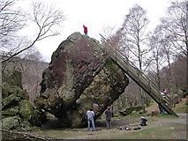 NY2516 : The Bowder Stone by Anthony Parkes