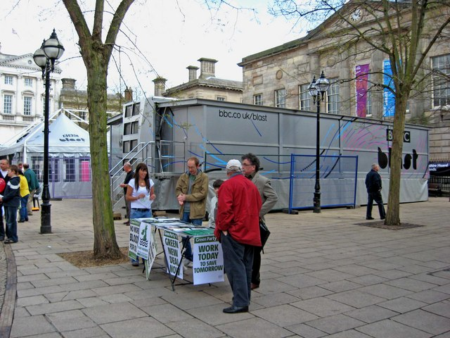 General Election May 2010 - Green Party stall, Market Square