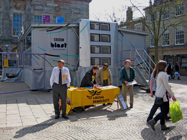 General Election May 2010 - Liberal Democrat Party stall, Market Square