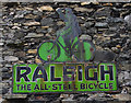 SD3778 : Raleigh sign, Cartmel by Ian Taylor