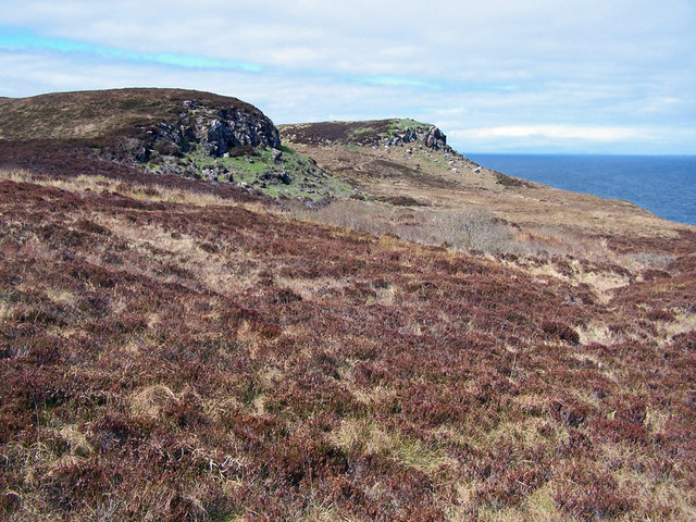 Craggy outcrops on the Waternish peninsula