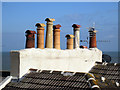 TR3864 : Chimney Pots by Oast House Archive
