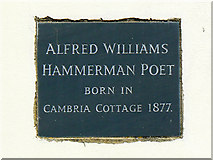 SU1987 : Plaque, Cambria Cottage, South Marston by Brian Robert Marshall