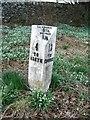 NO2844 : Milepost, Meigle by Maigheach-gheal