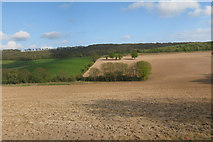 TR2743 : Ploughed Field in Alkham Valley by Oast House Archive
