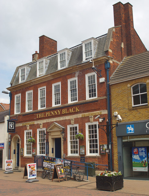 """The Penny Black"" public house, Sheep Street, Bicester"