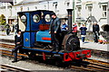 SH5738 : A Quiet Moment at Harbour Station, Porthmadog, Gwynedd by Peter Trimming
