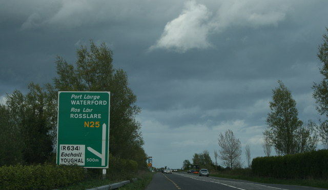 Storm clouds on the N25, County Cork