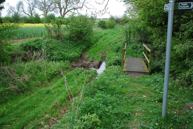 Ford and Footbridge on Footpath at Moorby