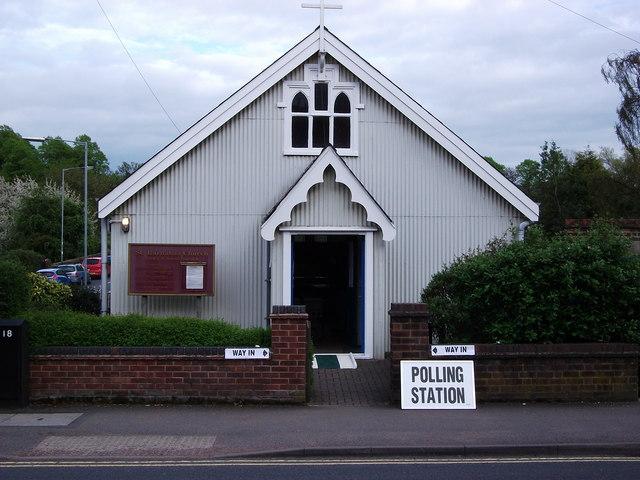 Polling Station, St Barnabas Church, Albion St., Kenilworth