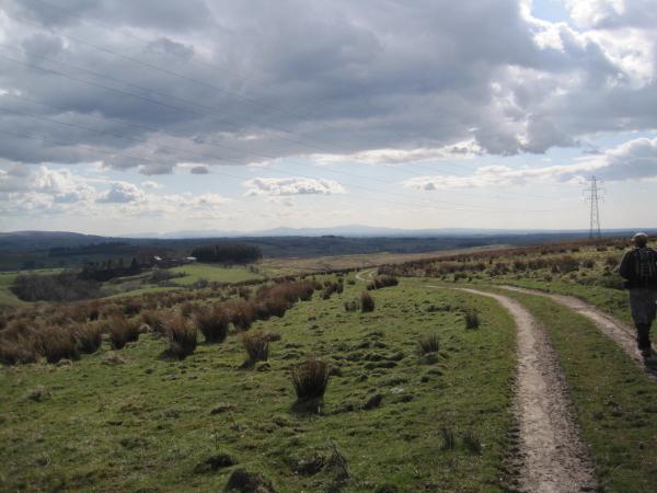 Footpath and Track towards Highstead Ash