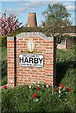 SK8770 : Harby village sign by Richard Croft