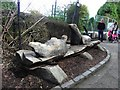 J3280 : Sea-lion woodcarving, Belfast Zoo by Kenneth  Allen