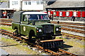 SH5738 : Land Rover at Porthmadog Harbour Station, Gwynedd by Peter Trimming