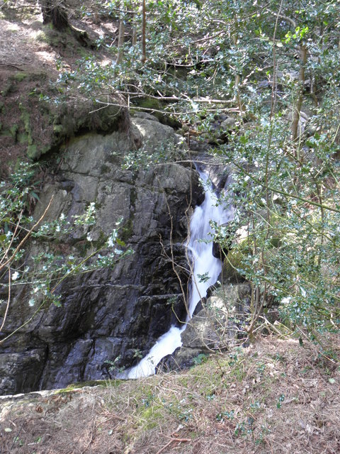 Waterfall on The Glen River in Donard Forest , Newcastle