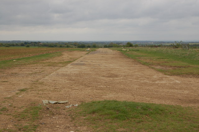 The remains of the perimeter track at the former RAF Akeman Street