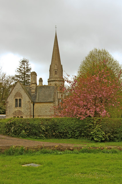 The School House and St Barnabas's Church, Ranmore