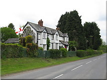 SO3951 : Flying the flag at Weobley by Peter Whatley
