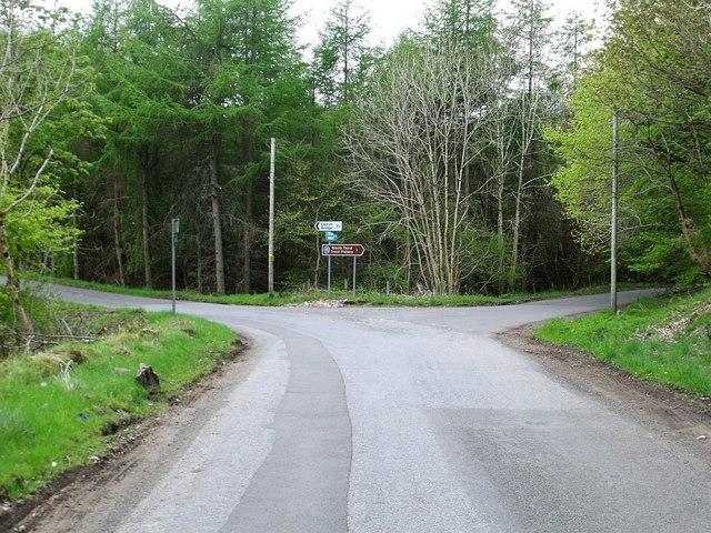 Canglour Glen, road junction