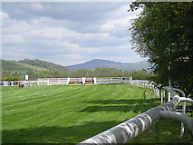 SO4977 : Ludlow Racecourse and Titterstone Clee Hill by Row17
