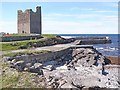 G3738 : Rosslee Castle and the harbour at Easky by Oliver Dixon