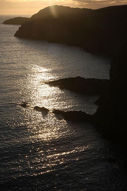 Sunset near St David's Head