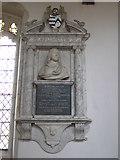 TL4731 : Monument to Haynes Barlee,   Clavering parish church by Derek Voller