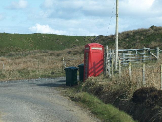 Phone box at Risabus