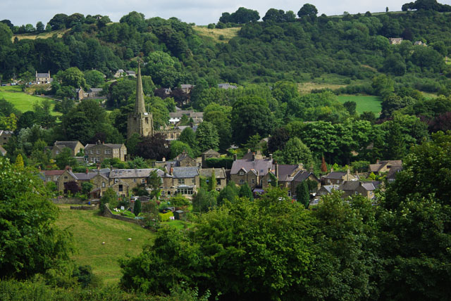 View of Ashover from the south west
